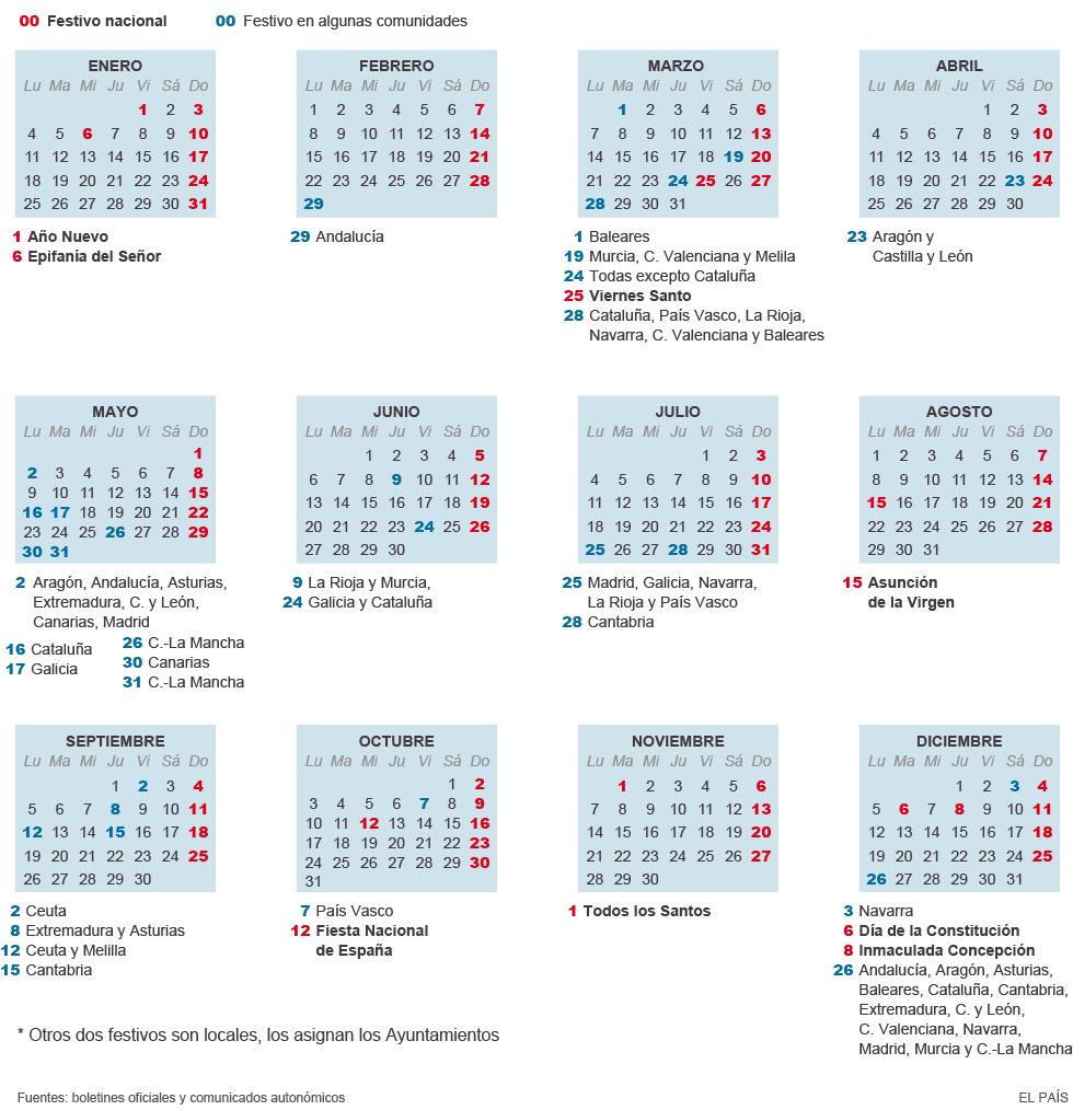 Праздники испании_Рабочий календарь